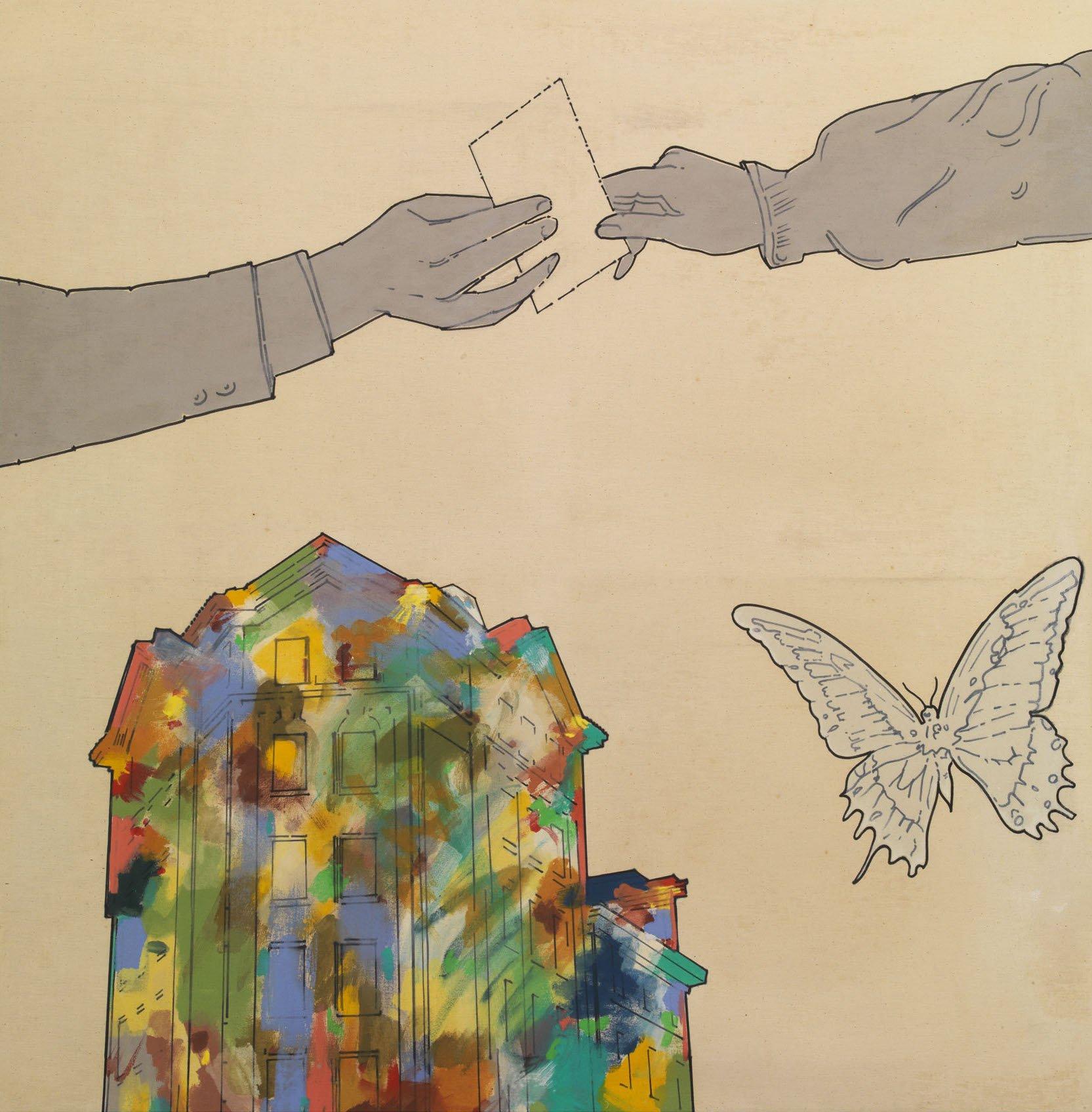 Mambor, Il gesto dell'autostrada, 1965, 130x130 cm