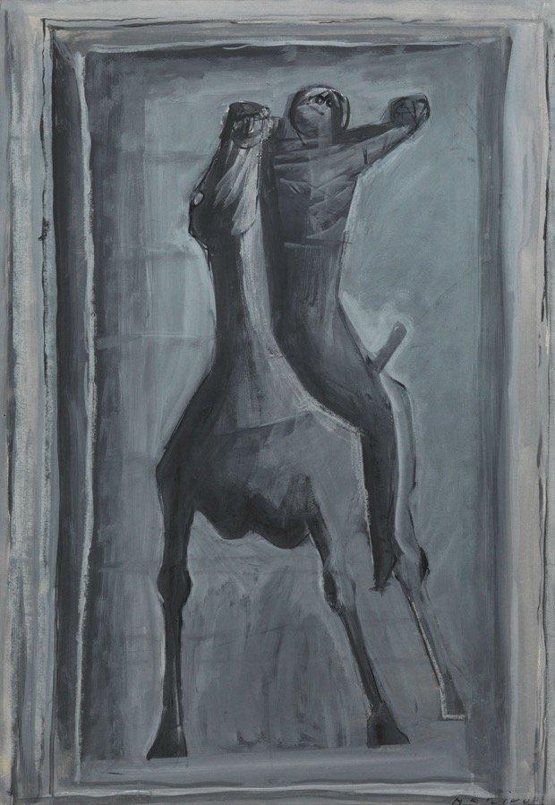 Marini, Cavaliere, 1947, 61,4x42,3 cm