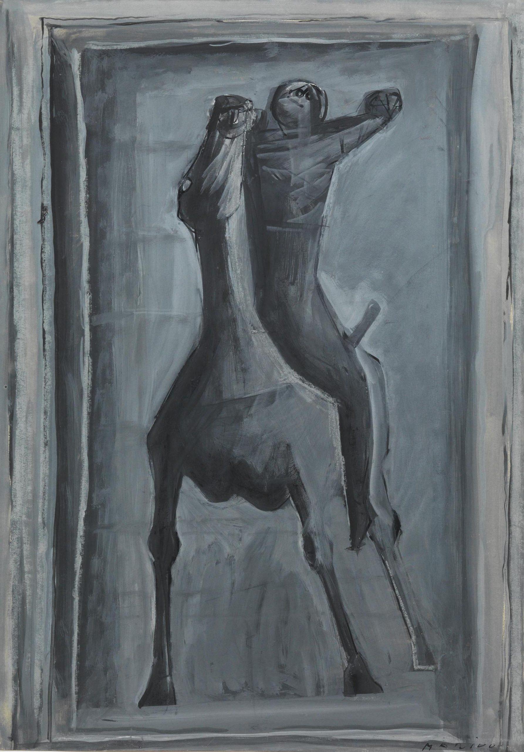 Marini, Cavaliere, 1947, 61.4x42.3 cm