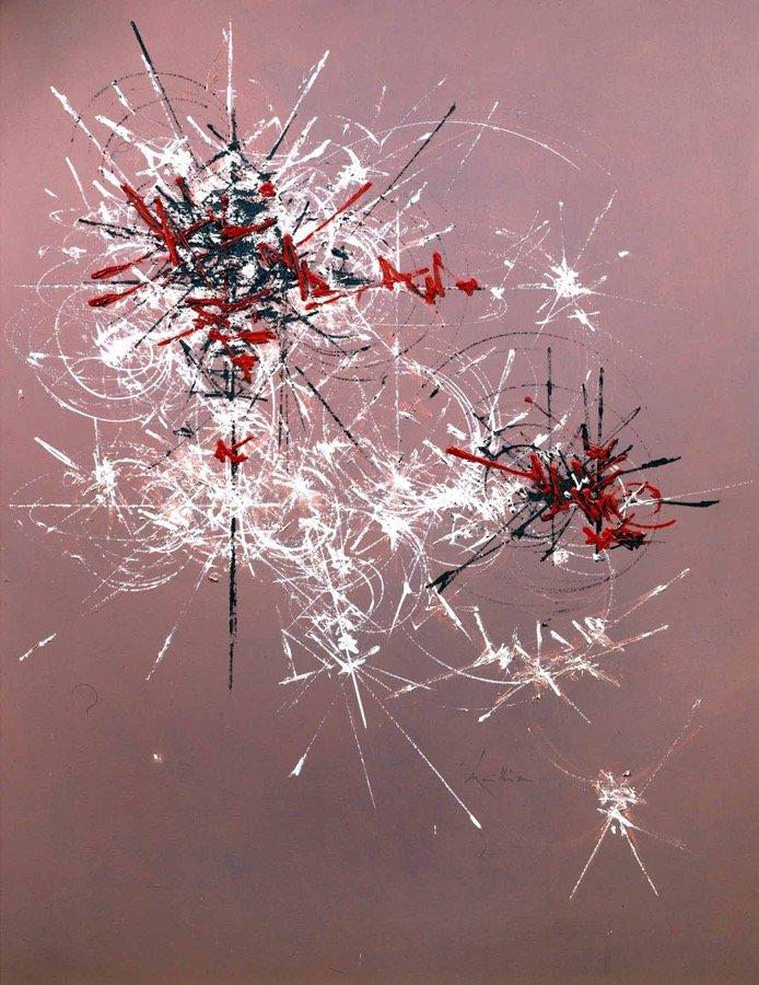 Mathieu, Hémérocalle, 1978, 147x114 cm