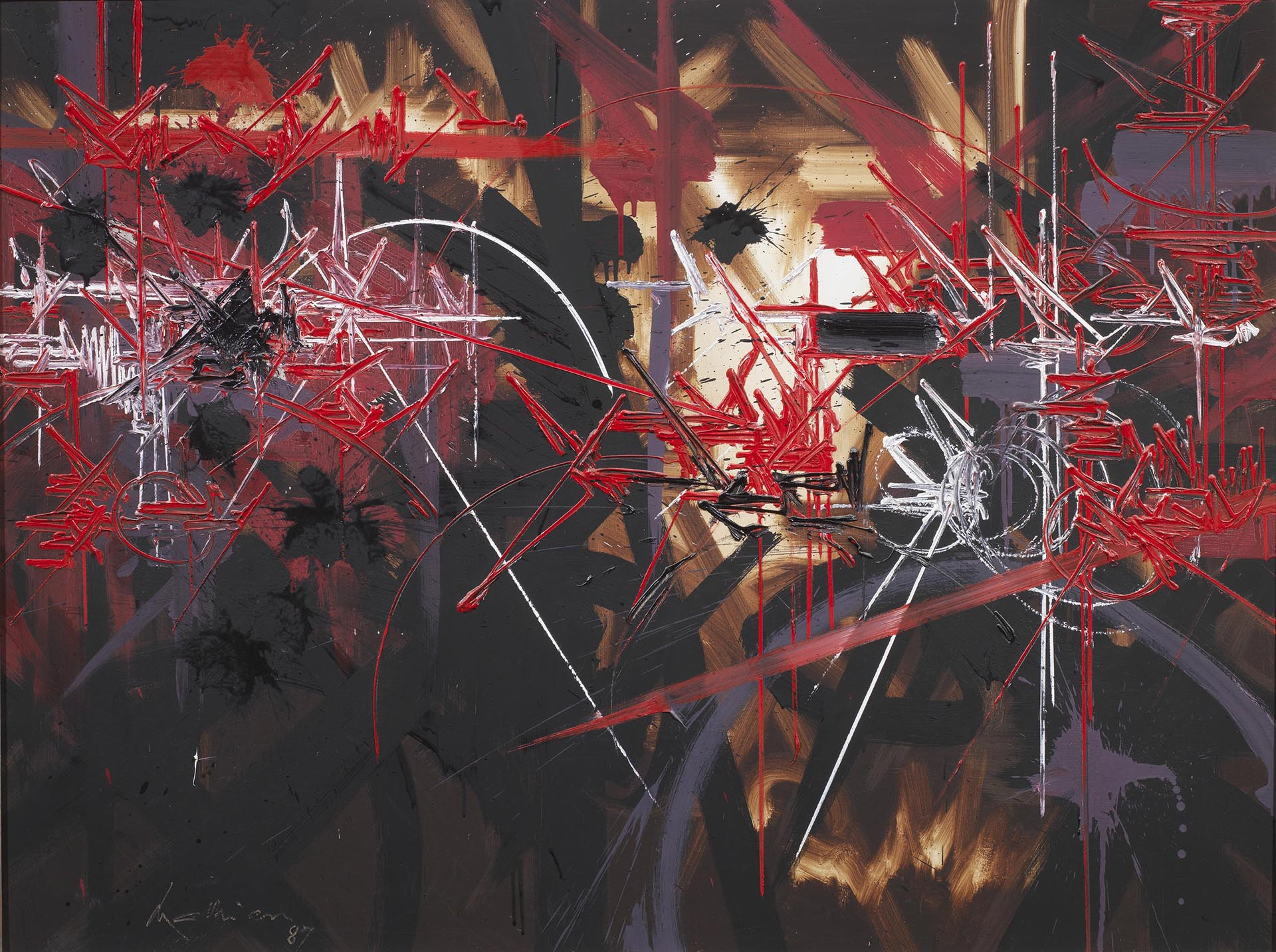 Mathieu, Certitude vindicative, 1987, 97x130 cm
