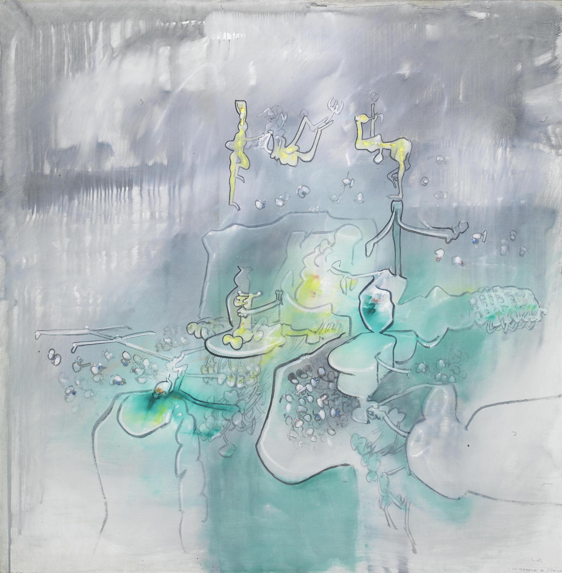 Matta, Les compagnons de l'Sphinx, 1967-68, 135x137 cm