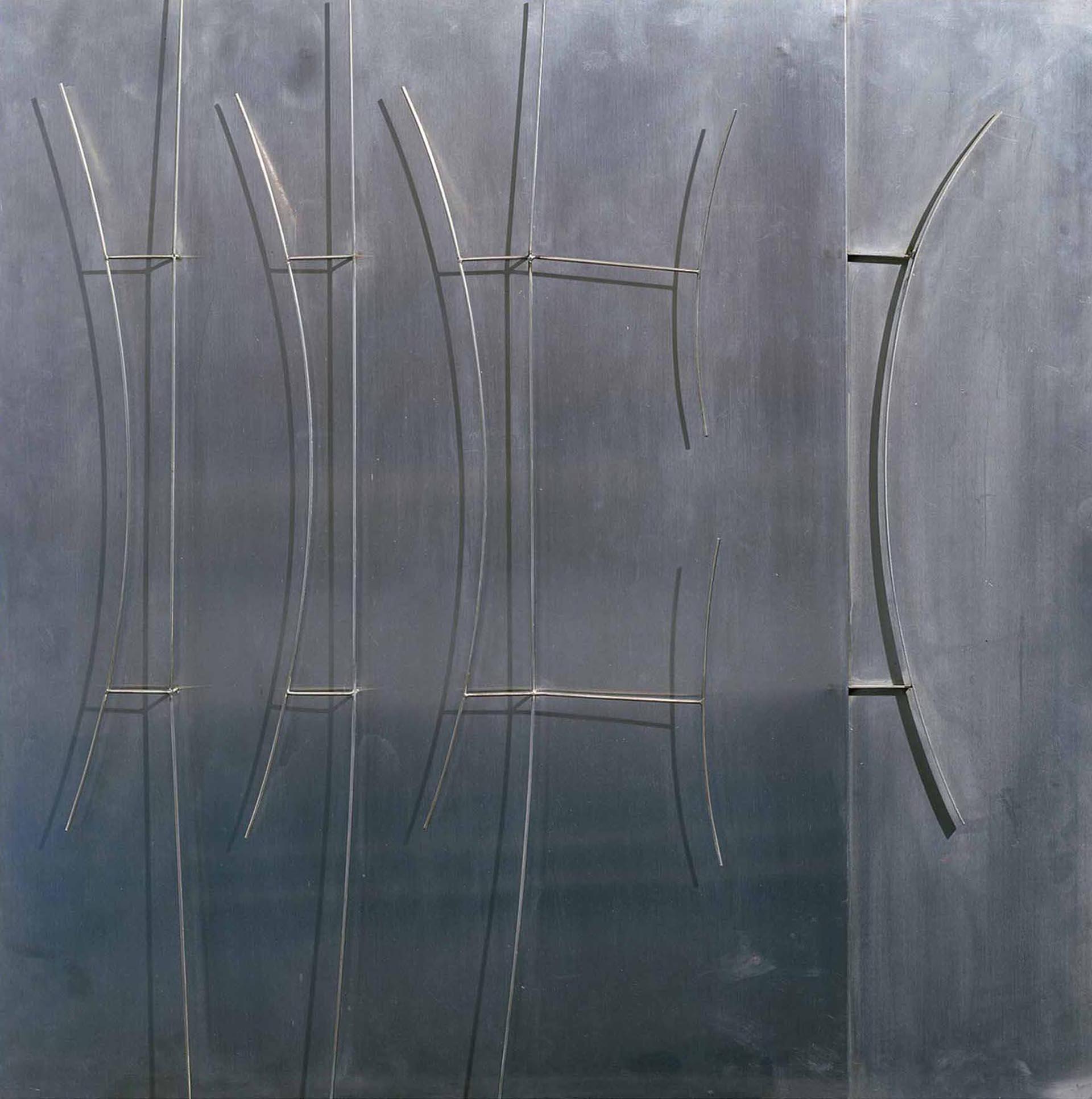Melotti, Bassorilievo archi, 1970, 90x90x3 cm