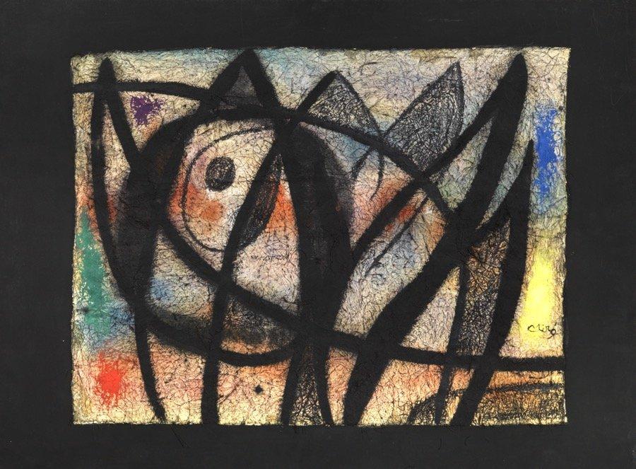 Mirò, Oiseau, 1972, 59x80 cm