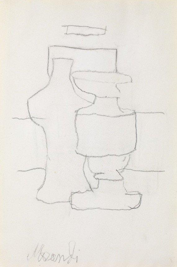 Morandi, Natura morta, 1963, 24,2x16,6 cm
