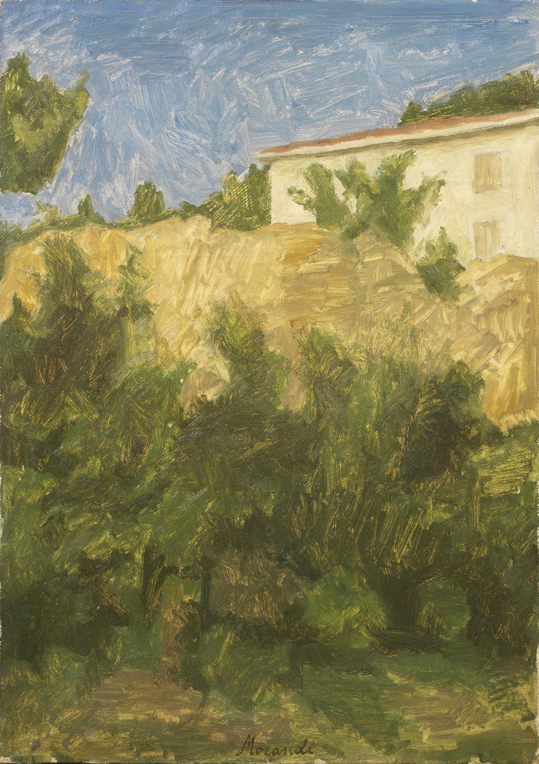 Morandi, Paesaggio, 1932, 61.5x43.5 cm