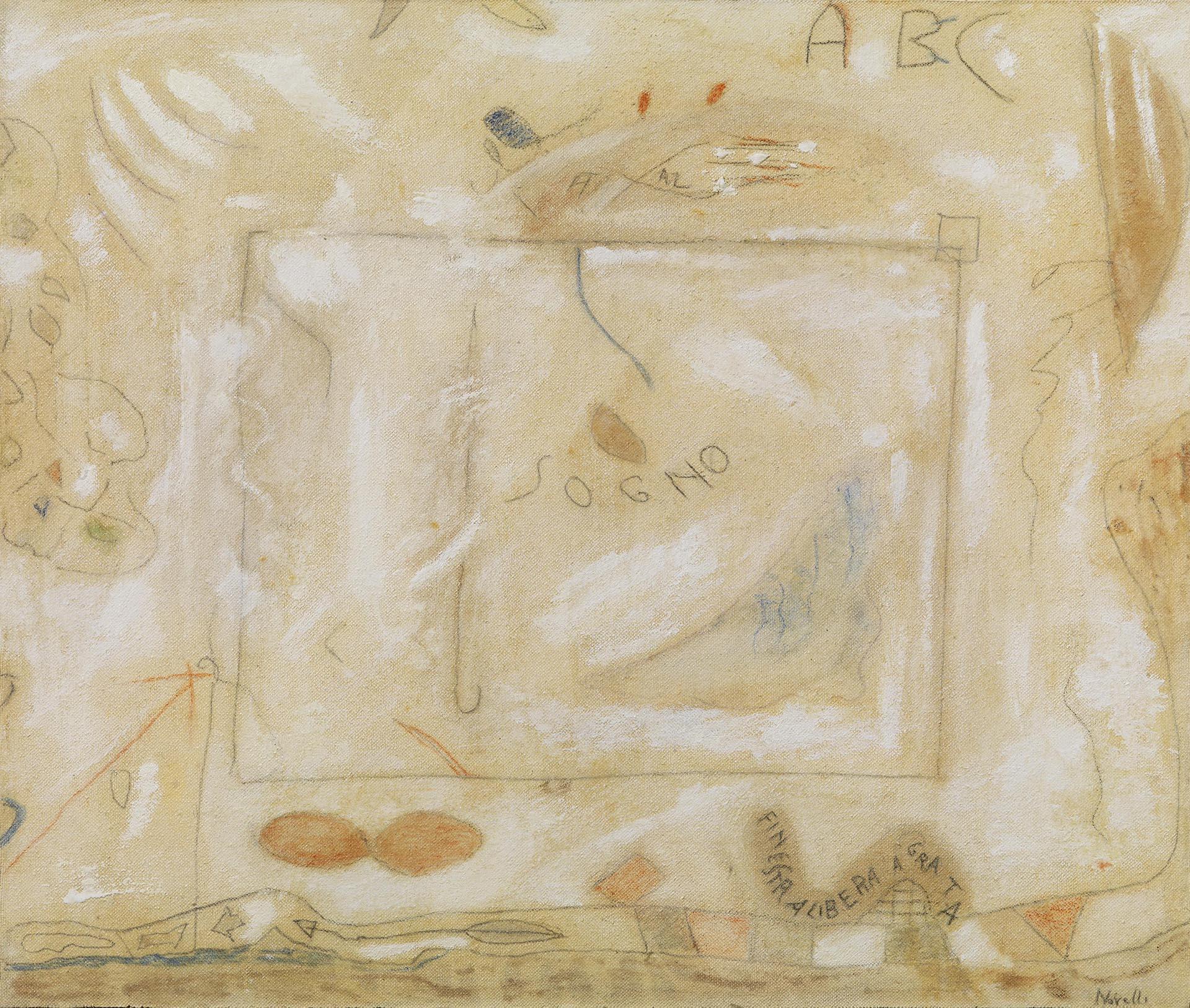 Novelli, Sogno, 1963, 43x51.5 cm