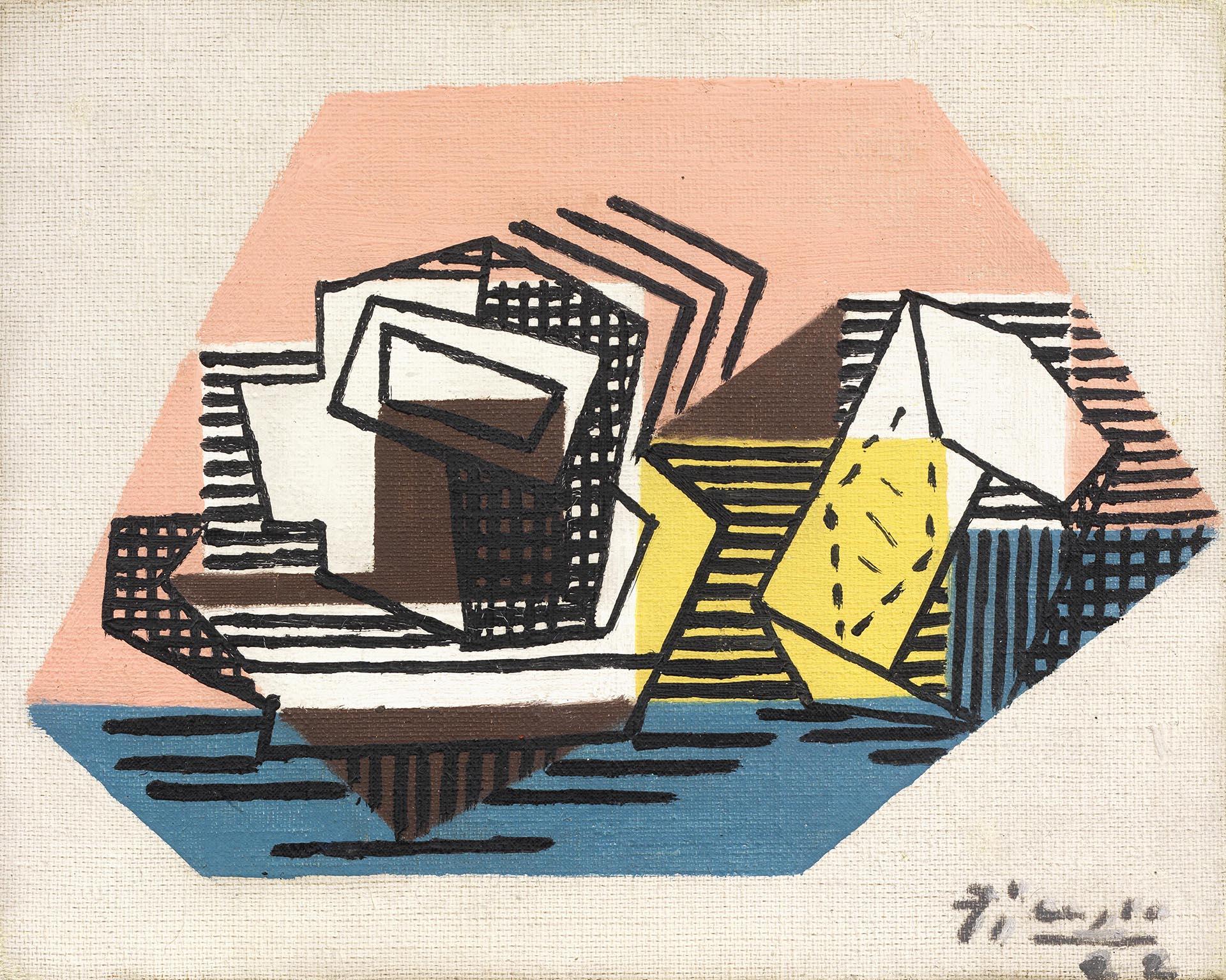 Picasso_Tasse-paquet-de-tabac_1922_19x24-cm