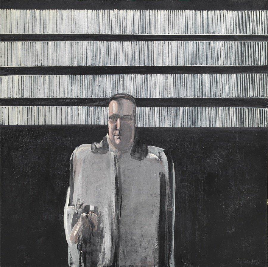 Pistoletto, L'uomo nero, 1959, 120x120,5 cm