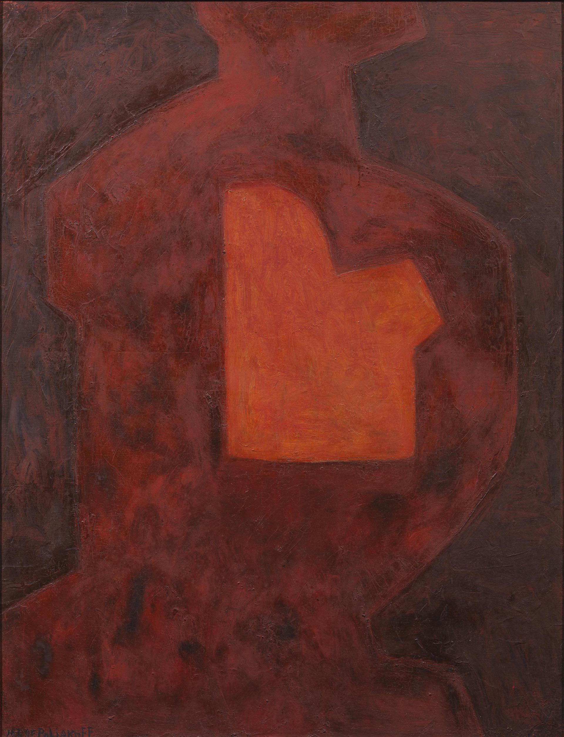 Poliakoff, Composition à la forme, 1968, 116X89.5 cm