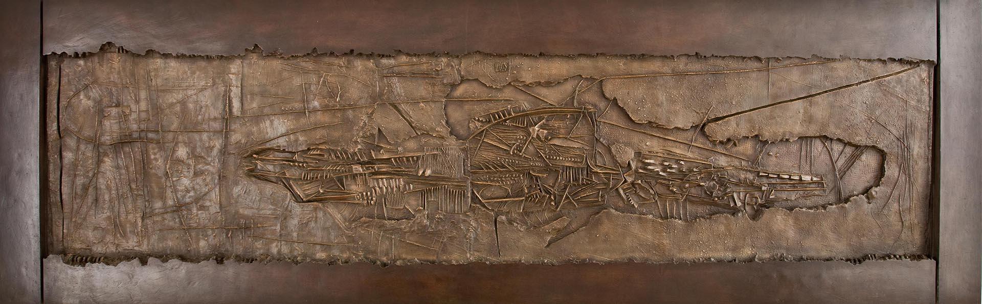 Pomodoro Giò, Ritrovamento, 1959, 124x400x9 cm