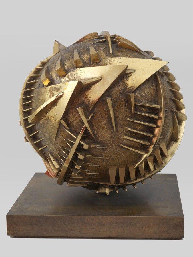 Pomodoro, Sfera di San Leo, studio n° 1, 1997-1998, diam 30 cm