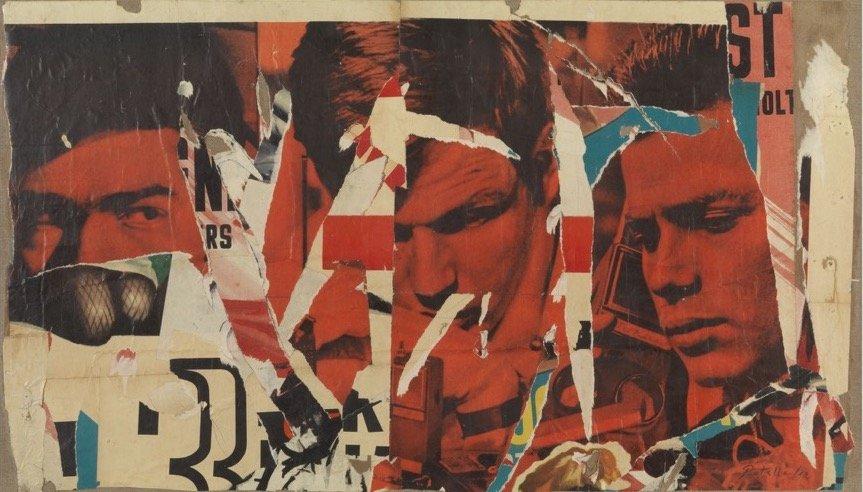 Rotella, La rapina, 1964, 54x94 cm