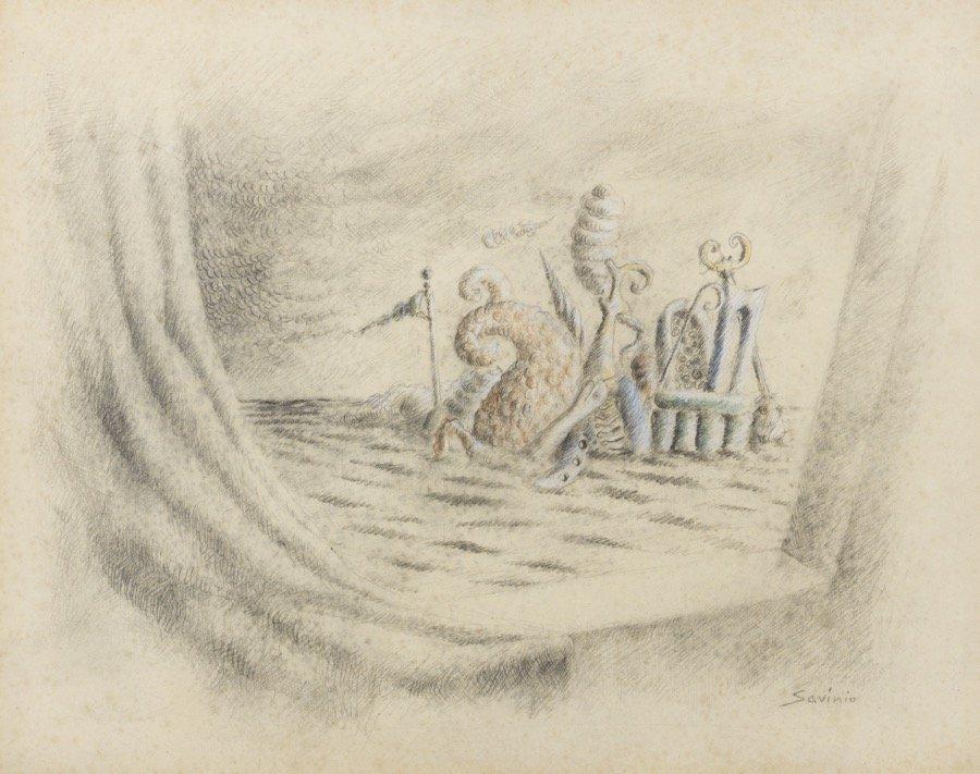 Savinio, Les atlantes, 1939, 28x36 cm