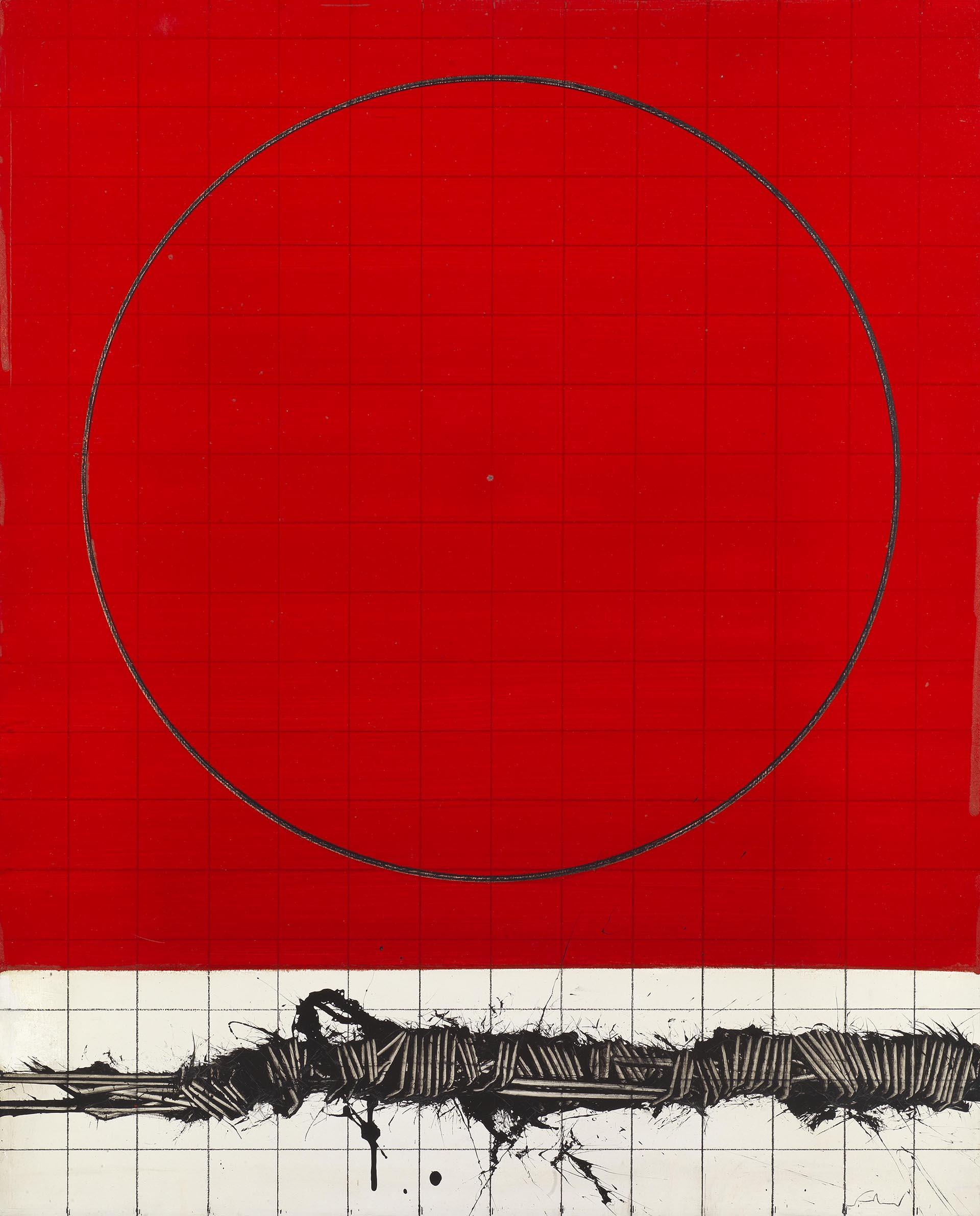 Scanavino, Il cerchio, 1970, 92x73 cm
