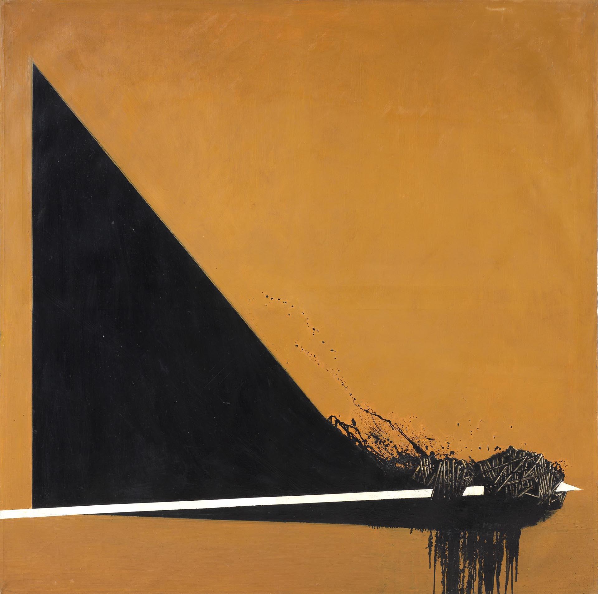 Scanavino, Violazione, 1968, 150x150 cm