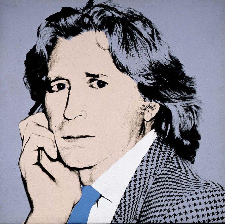 Warhol, Portrait of Mario Valentino, 1981, 102x102 cm