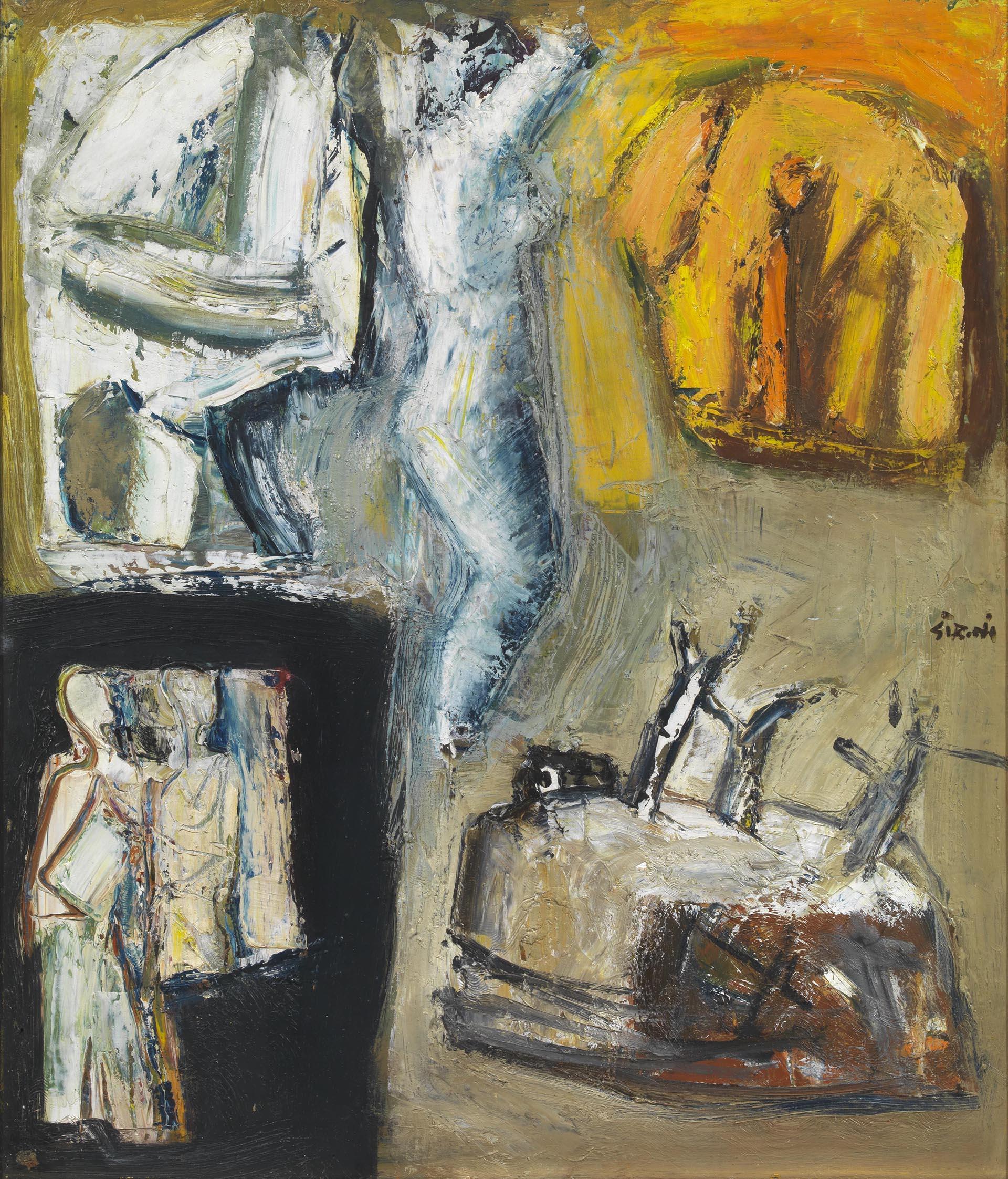 Sironi, Composizione, 1950-55, 70x60 cm
