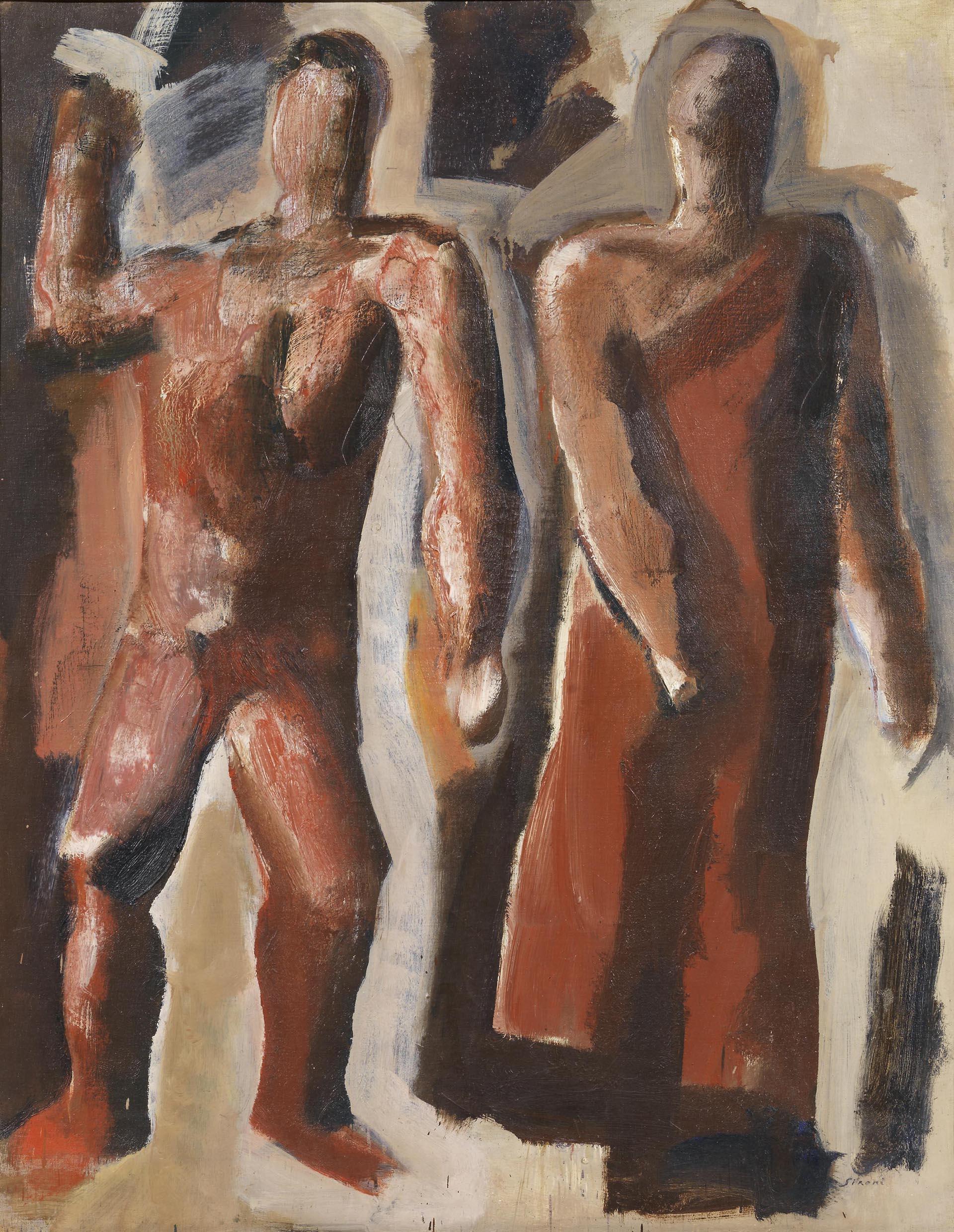 Sironi, Due figure, 1930 ca, 100x80 cm