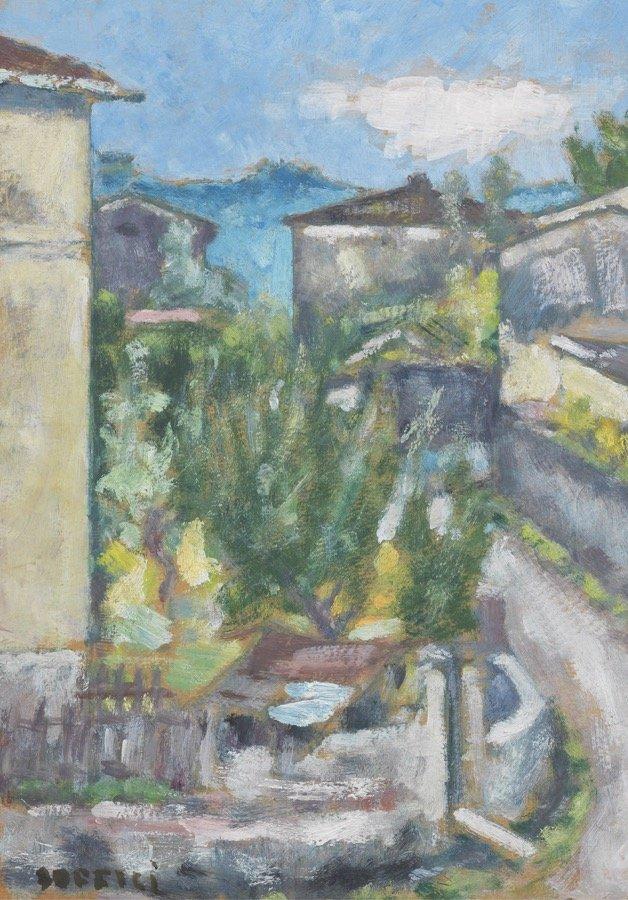 Soffici, Case al Poggio, 1962 ca., 49,5x35,3 cm