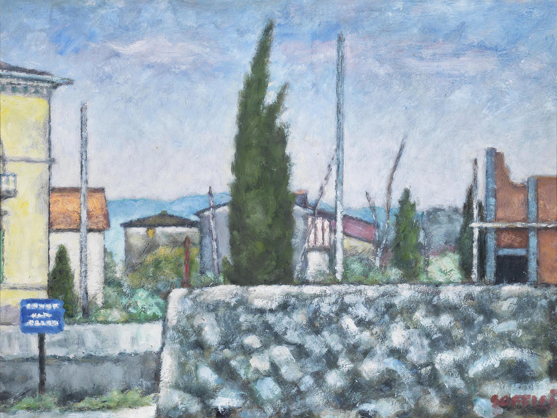 Soffici_Febbraio-a-Poggio-a-Caiano_1961_50x69-cm