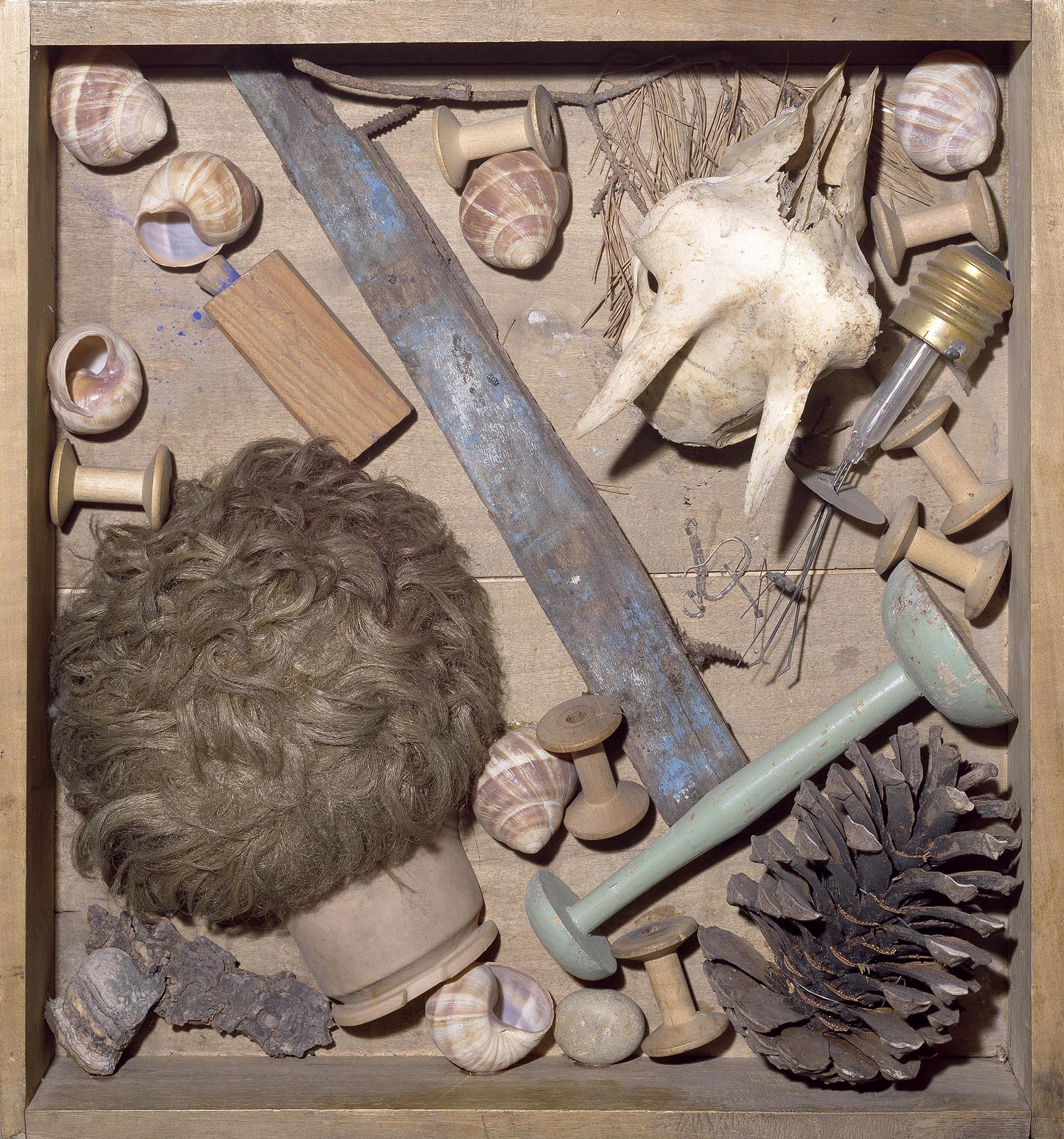 Spoerri, Le tableau de Yves Klein, 1982, 46x42.5x13 cm