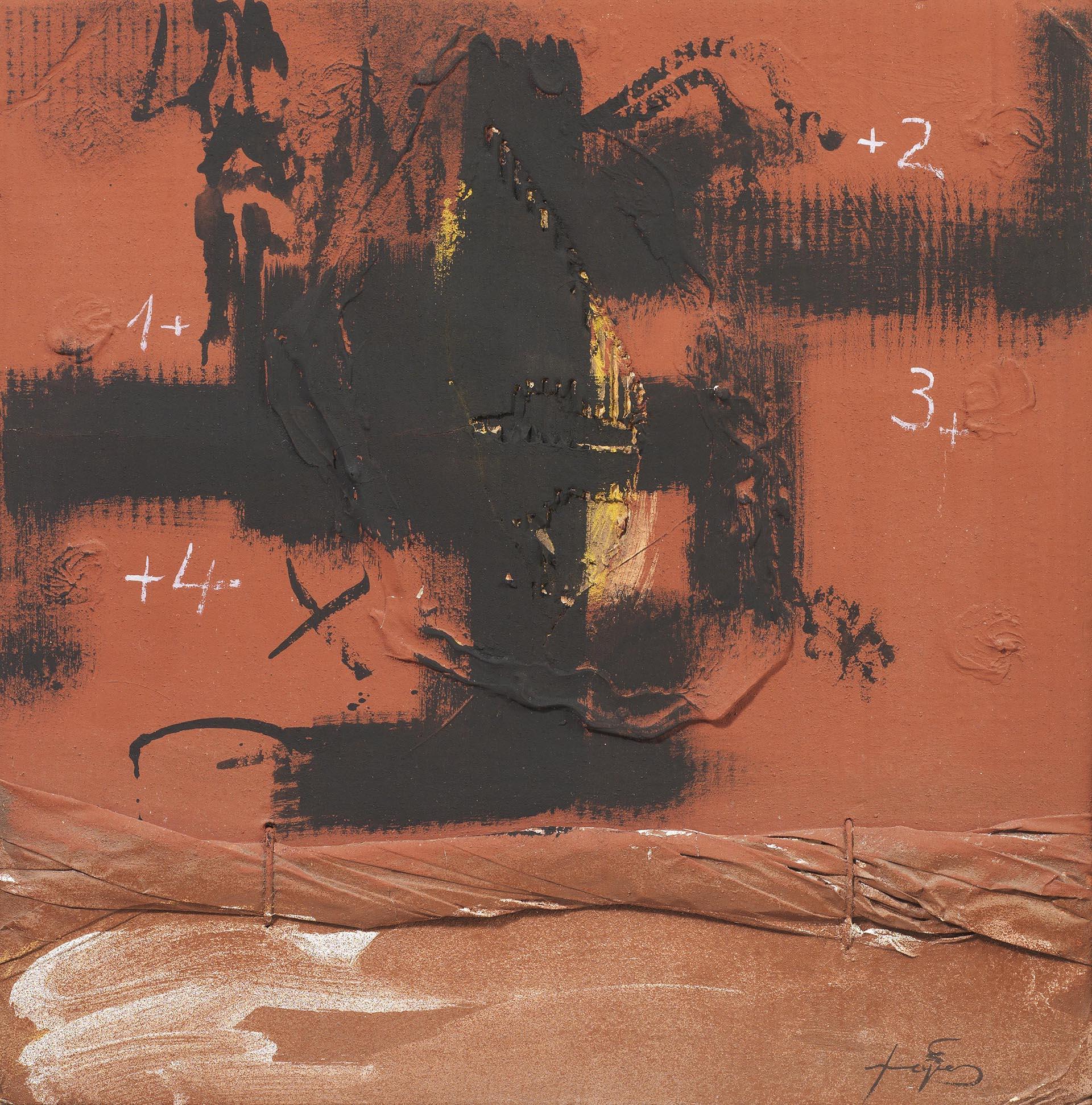 Tàpies, Deus superficies, 1981, 49x49.5 cm