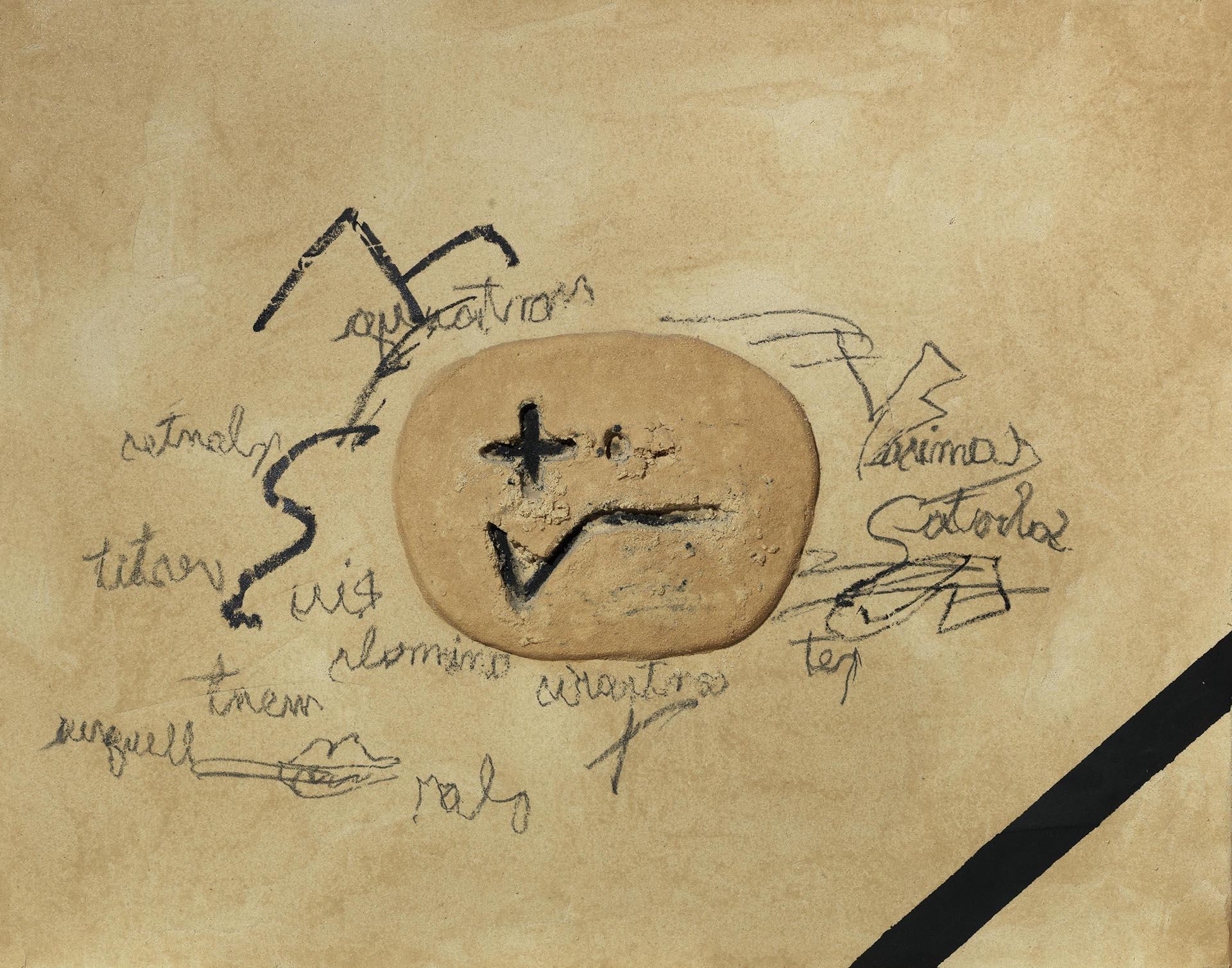 Tàpies, Signes i escrits, 2005, 114x146 cm