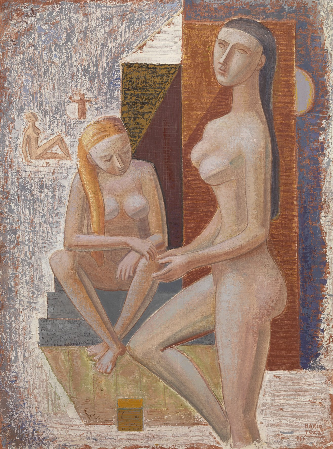Tozzi, Capanno al mare, 1966, 131x97 cm
