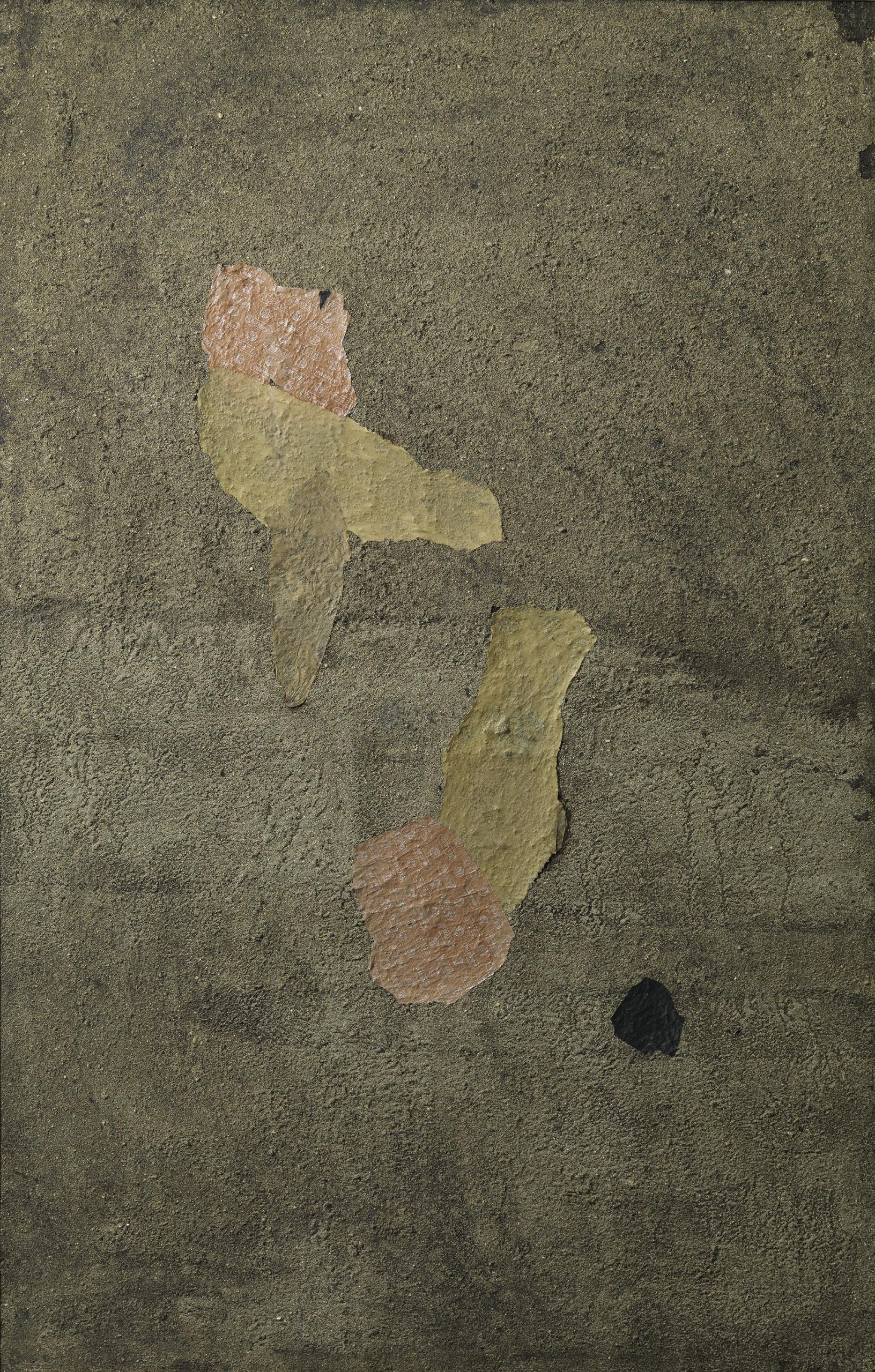 Turcato, Composizione collage, 1953, 160x98 cm