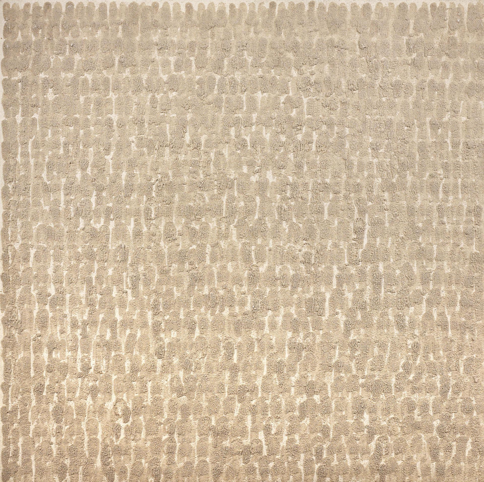 Uecker, Untitled, 1976, 150x150 cm