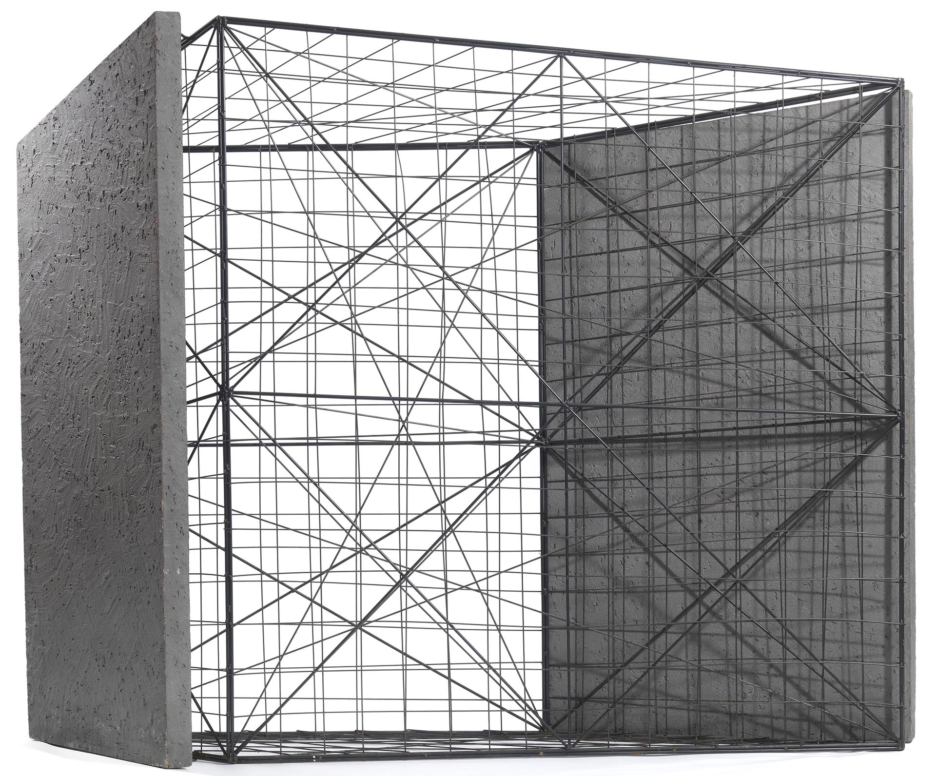 "Uncini, ""Spazi di ferro"", n° 26 (rilievo), 1989, 150x194x30 cm"