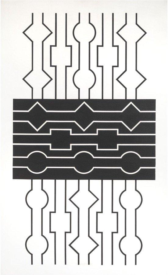 Vasarely, Dees, 1965, 77x47 cm