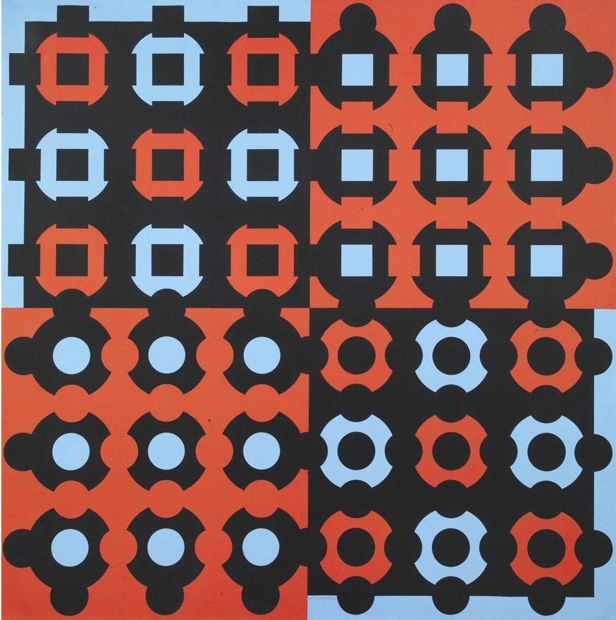 Vasarely, Profire, 1983, 120x120 cm