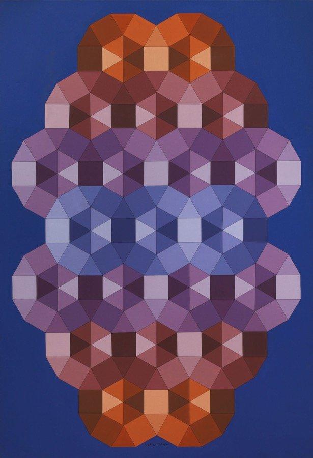 Vasarely, Tizenne - 2, 1986, 190x130 cm
