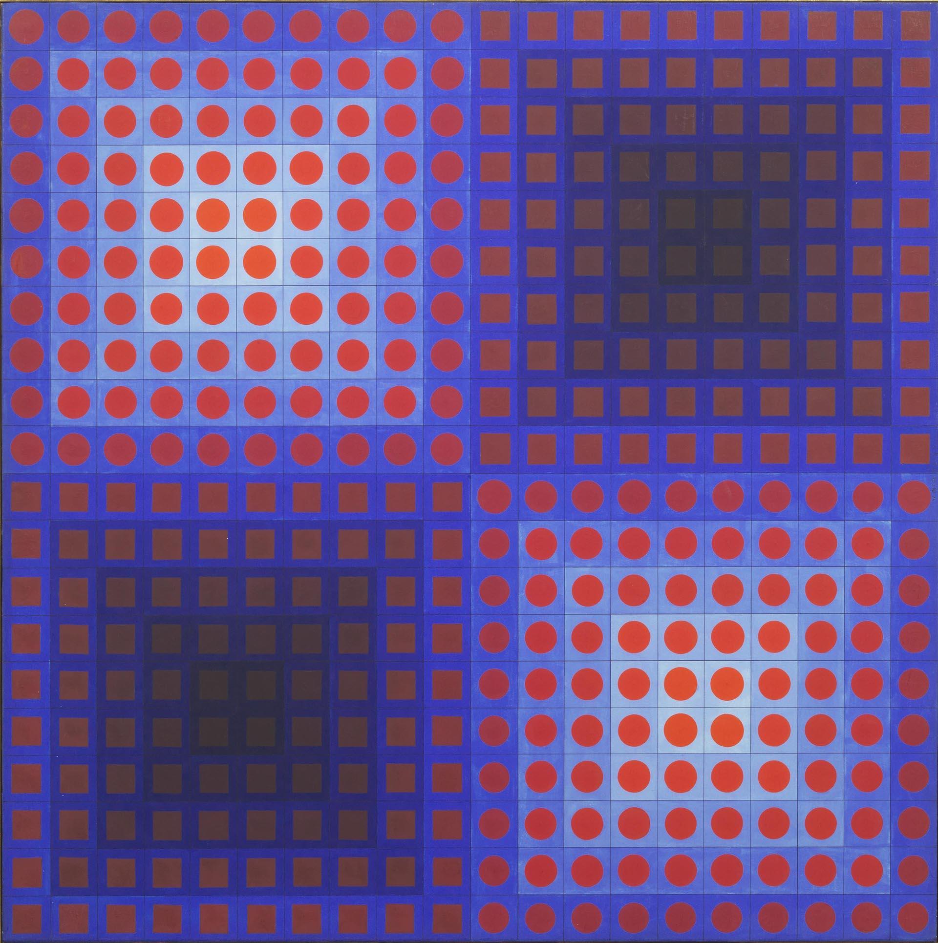 Vasarely, EG, 1965, 80x80 cm