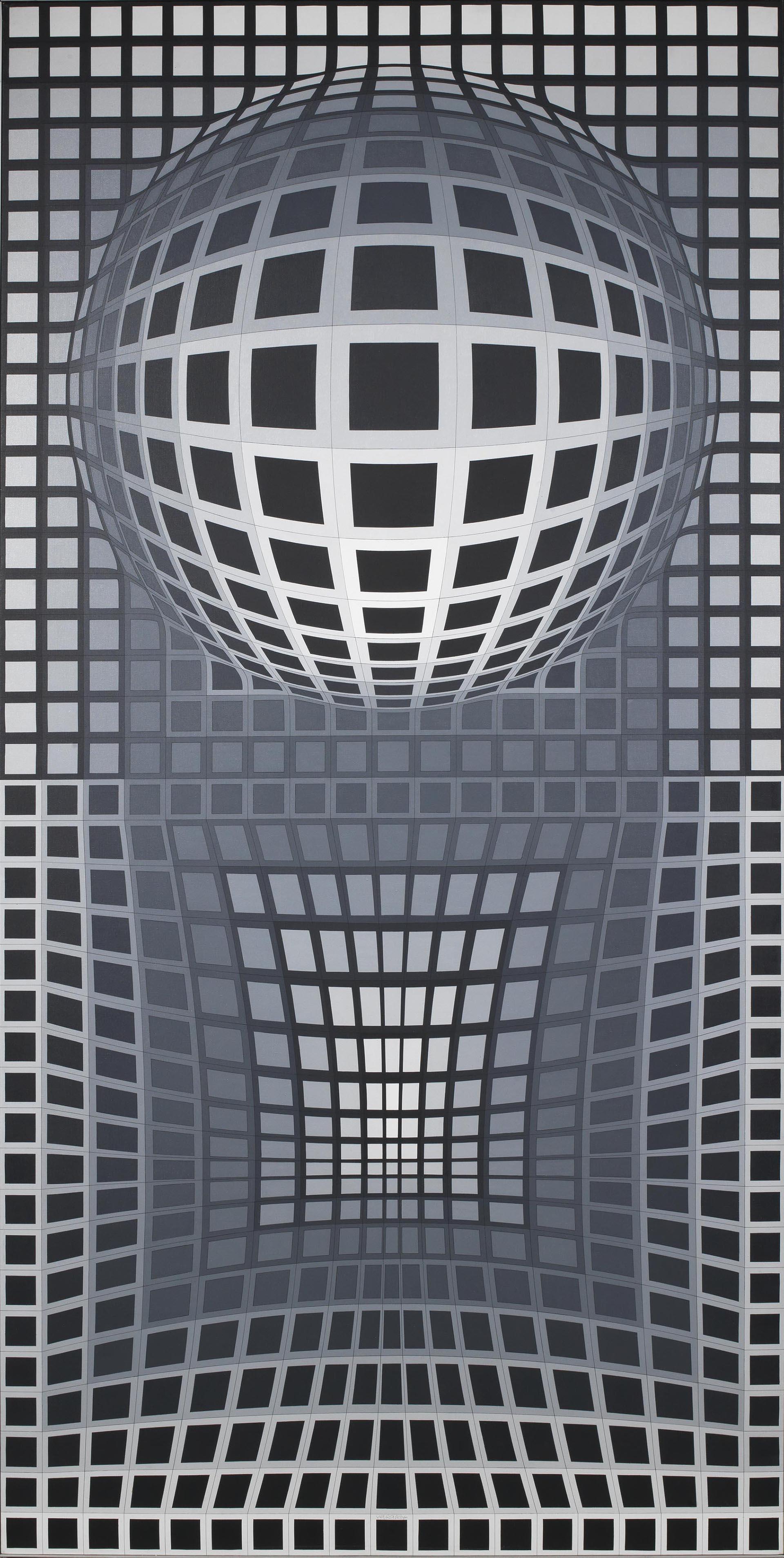 Vasarely, VP Surke, 1971-1973, 253x126 cm