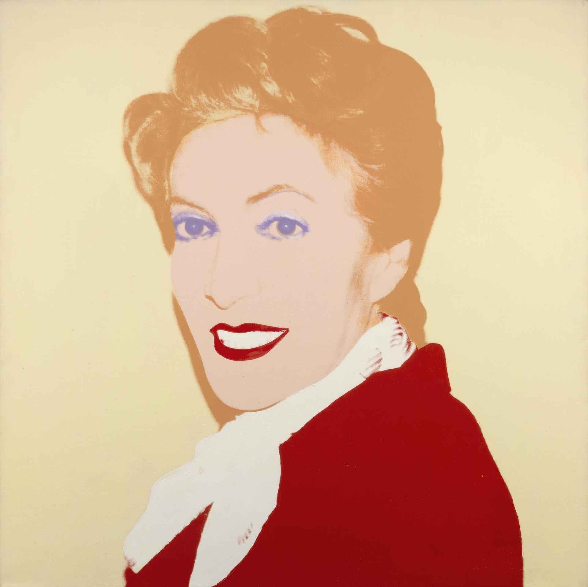 Warhol, Portrait of Bronka Weintraub, 1986, 102x102 cm