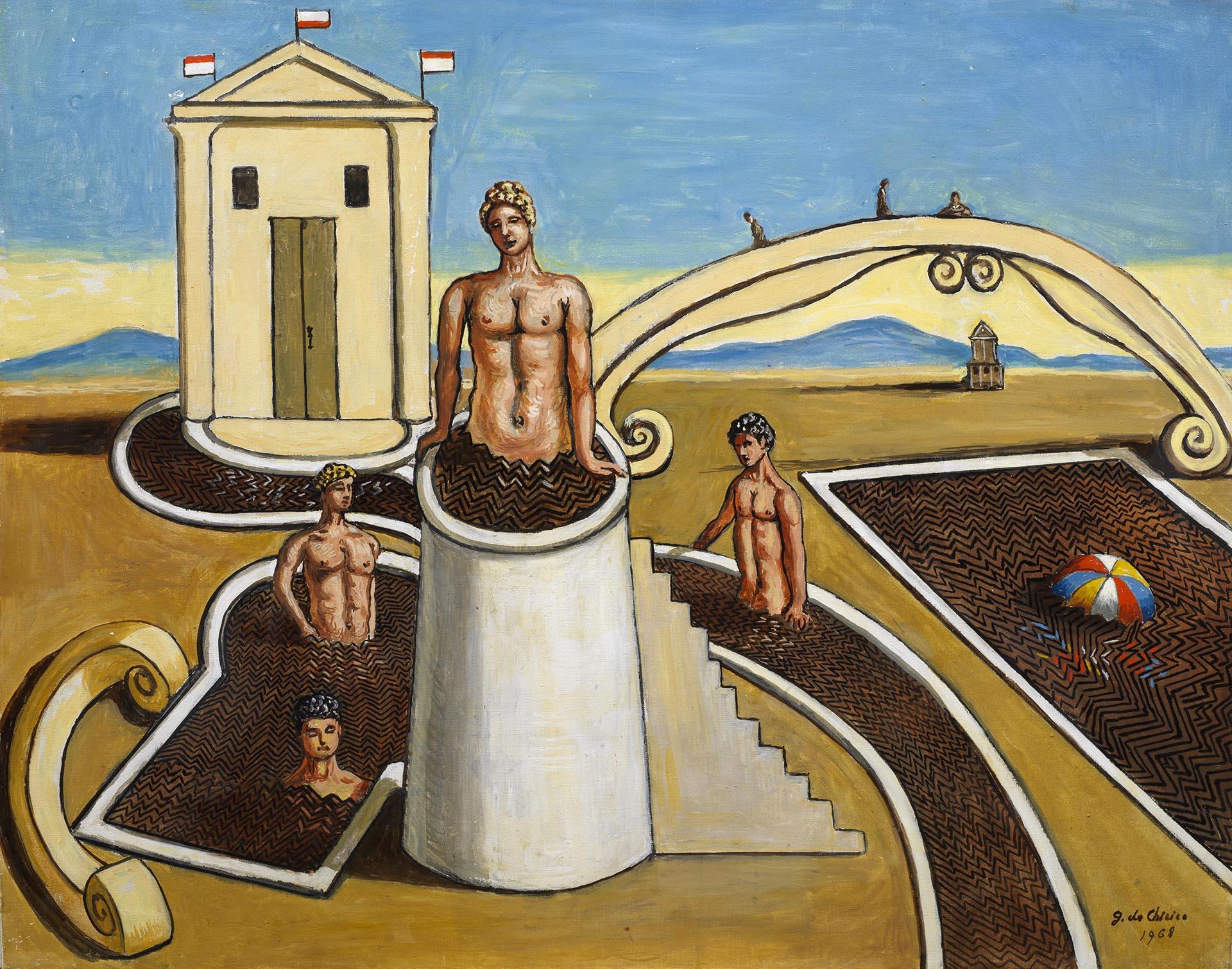 de Chirico, Bagni misteriosi, 1968, 73x93 cm