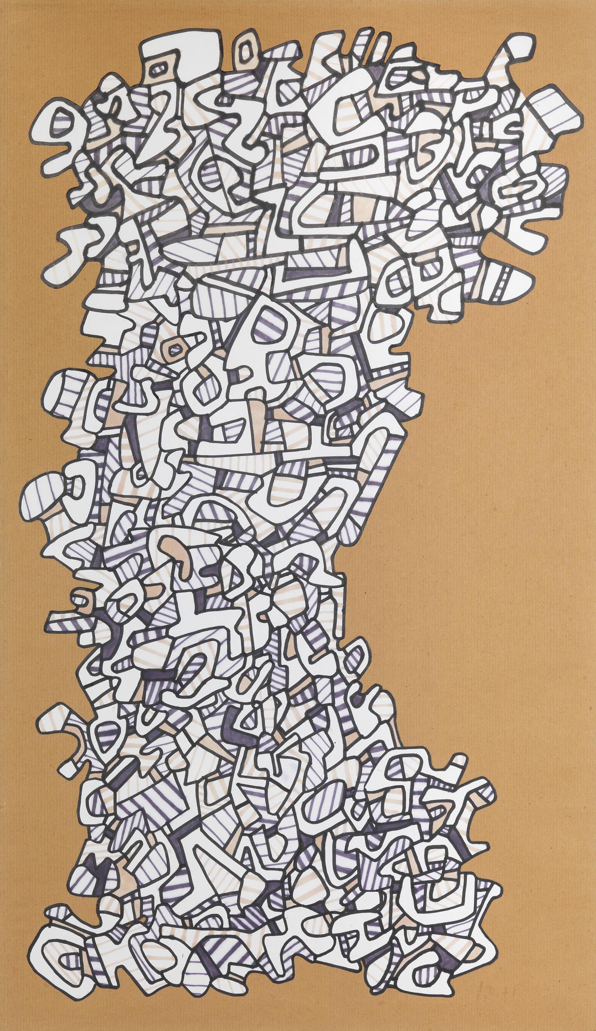 Dubuffet, Arbre logologique, 1971, 74x425 cm