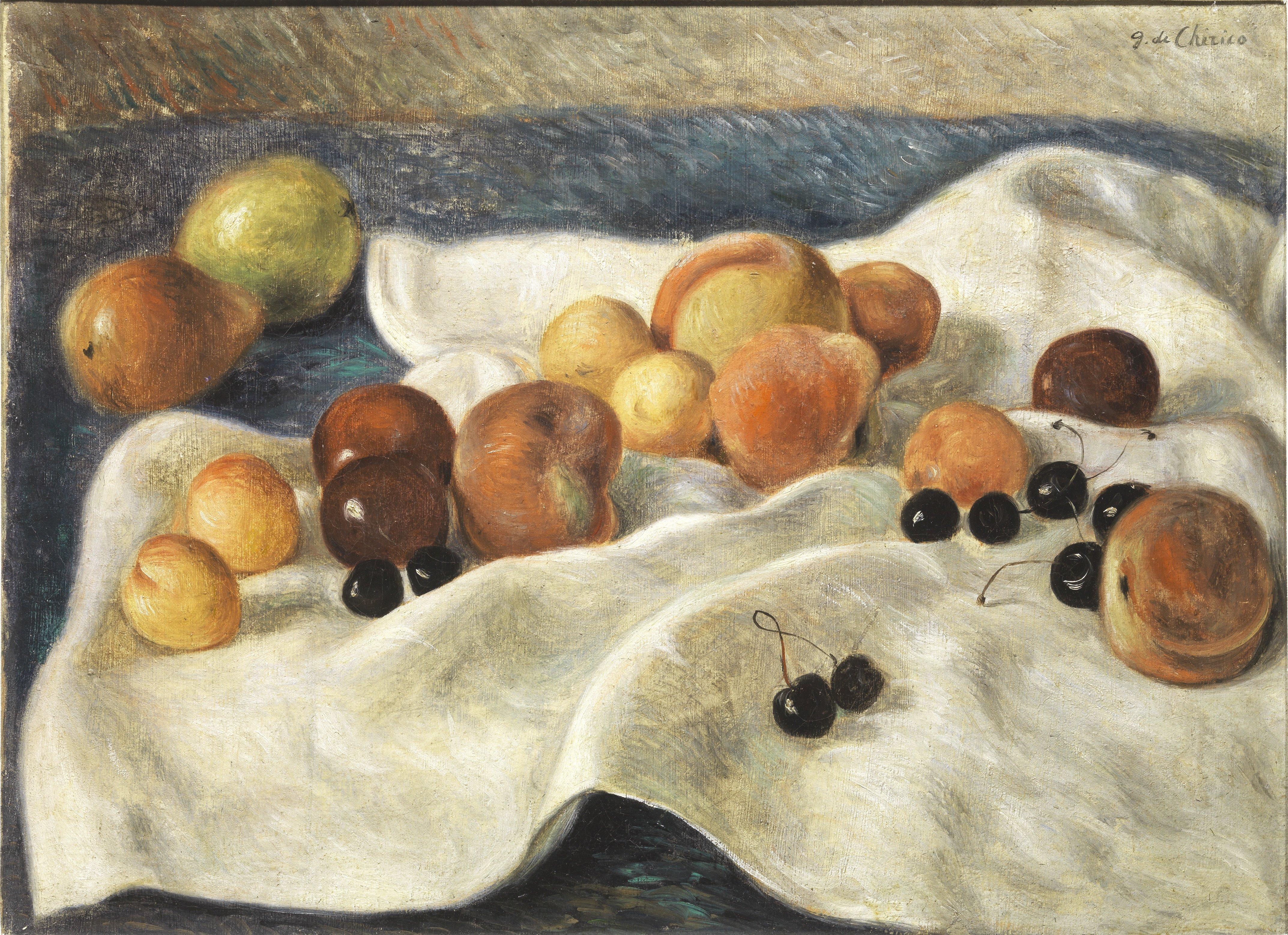 Giorgio de Chirico, Natura morta, 1930, 53.5x74 cm