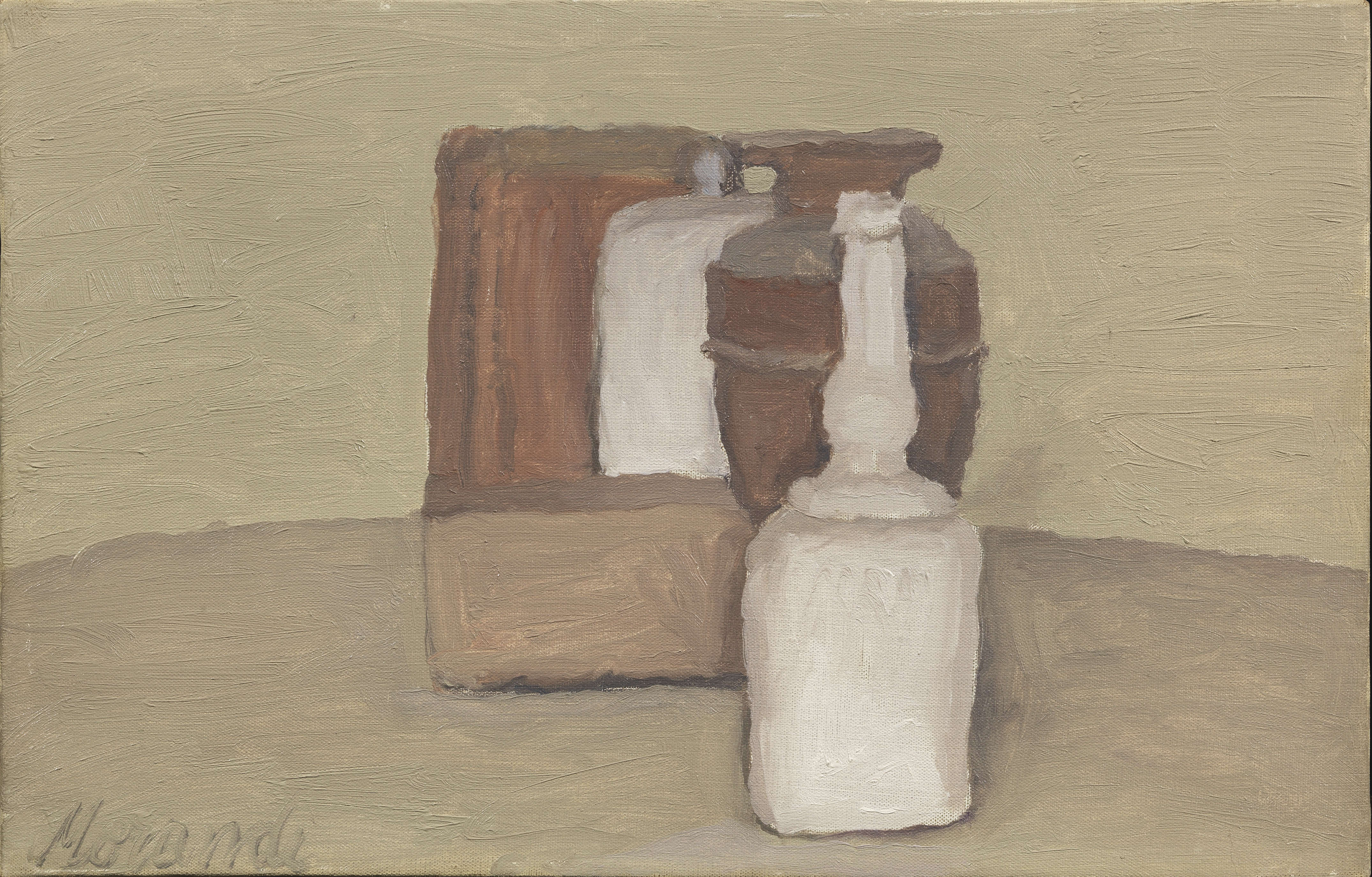 Giorgio Morandi, Natura morta, 1955, oil on canvas, 24x37 cm