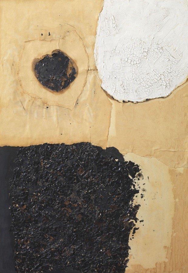 Burri, Combustione, 1960, 100x70 cm