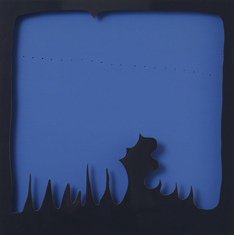 Fontana, Concetto spaziale, Teatrino, 1965, 130x130 cm