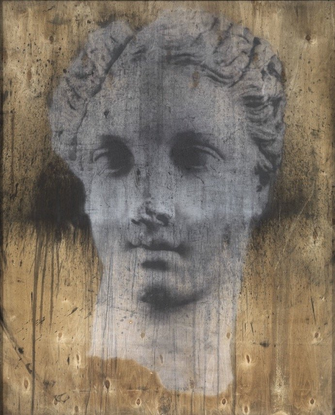 Pignatelli, Testa femminile, 2014, 147x121x12 cm