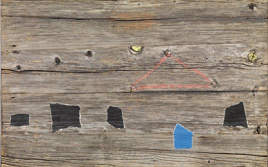 Santomaso, Legno n° 16, 1974, 60x96 cm