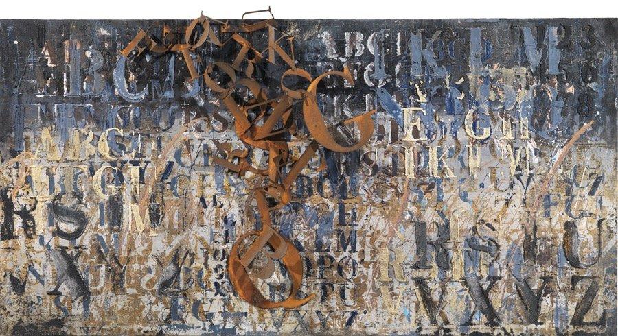 Enrico Benetta, Murales, 2016, 100x200x15 cm