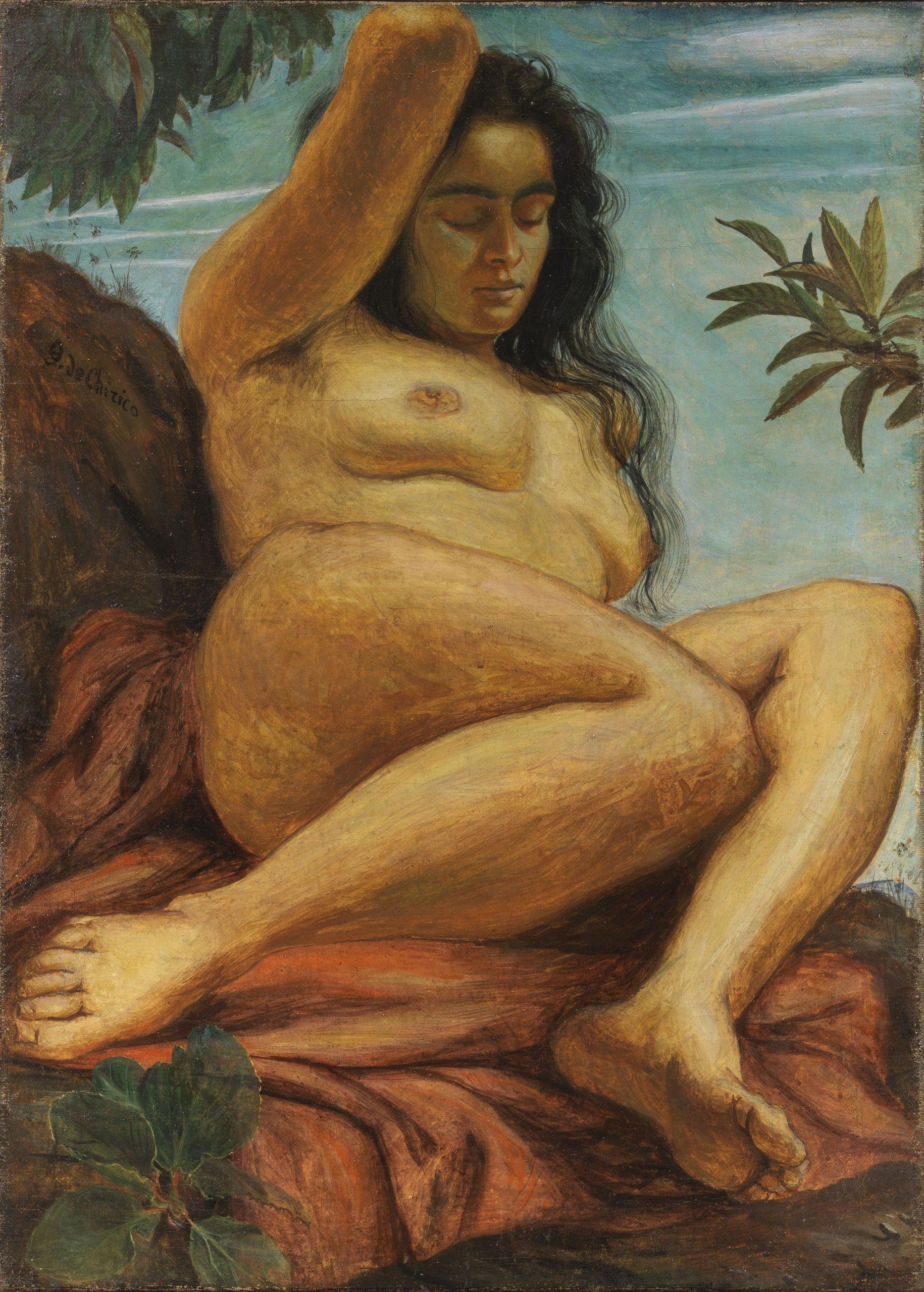 Giorgio de Chirico, Nudo femminile, 1923, tempera grassa su tela, 84x60 cm