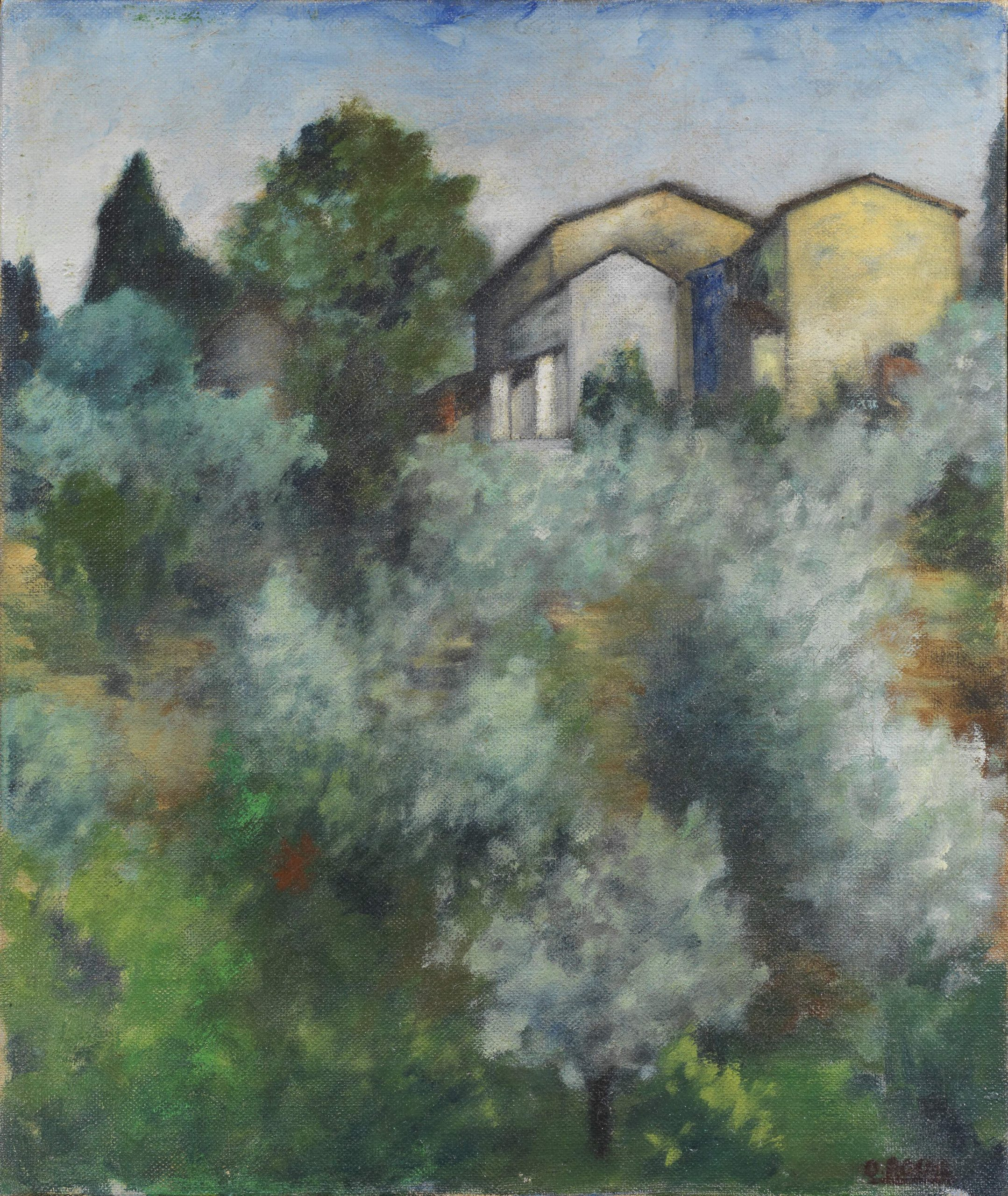 Ottone Rosai, Collina di ulivi, 1922, oil on canvas, 46x38 cm