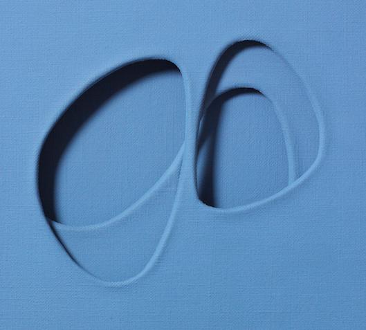 Paolo Scheggi, Zone Riflesse, 1965, acrylique sur trois toiles superposées, 60 x 50,5 x 5,5 cm(détail)